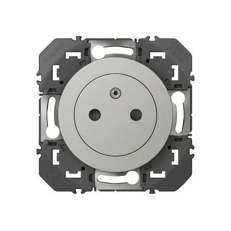 Prise de courant 2P+T Surface dooxie 16A alu