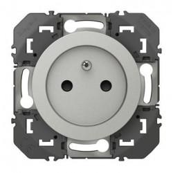 Prise de courant 2P+T à puits dooxie 16A finition alu - 600437