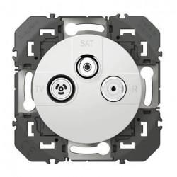 Prise TV-R-SAT 1 câble dooxie finition blanc