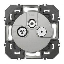 Prise TV-R-SAT 1 câble dooxie finition alu - 600453