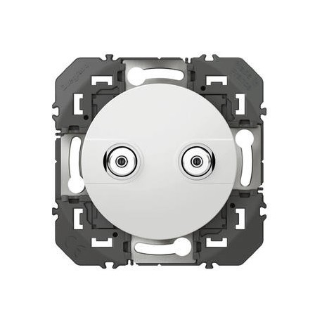 Prise réseau câblé AFORM type F dooxie à étoile blindée finition blanc