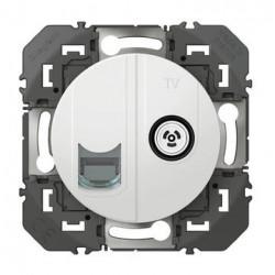 Prise TV + RJ45 cat6 STP compacte dooxie finition blanc