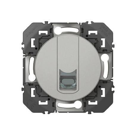 Prise blindée RJ45 cat6 FTP dooxie finition alu
