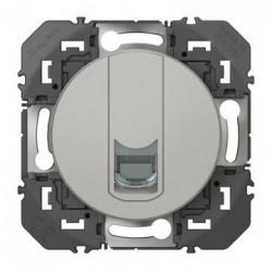 Prise blindée RJ45 cat5e FTP dooxie finition alu