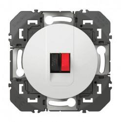 Prise haut-parleur simple dooxie finition blanc