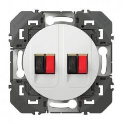 Prise haut-parleur double dooxie finition blanc