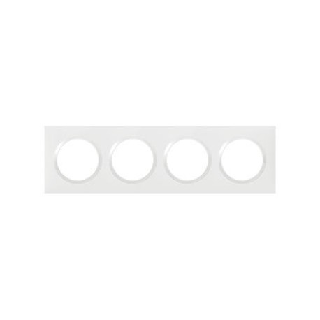 Plaque carrée dooxie 4 postes finition blanc - 600804