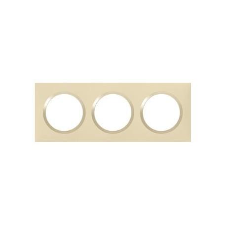 Plaque carrée dooxie 3 postes finition dune - 600813