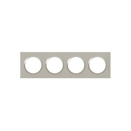 Plaque carrée dooxie 4 postes finition plume - 600824