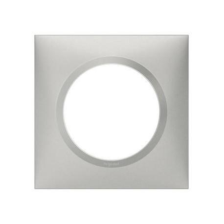 Plaque carrée dooxie 1 poste finition effet aluminium - 600851