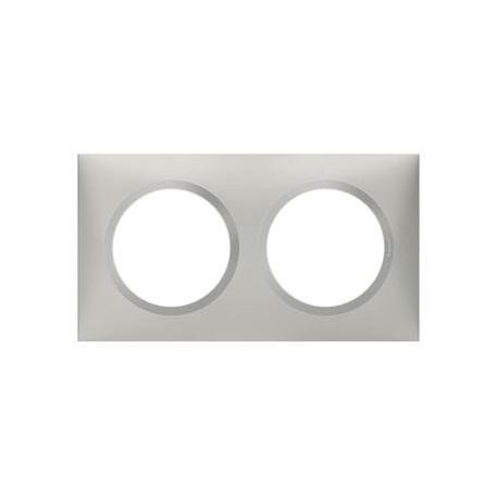 Plaque carrée dooxie 2 postes finition effet aluminium - 600852