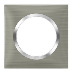 Plaque carrée dooxie 1 poste finition effet inox brossé - 600871