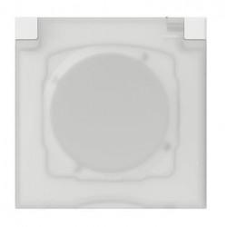Plaque carrée dooxie 1 poste avec volet IP44 IK07 - 600944