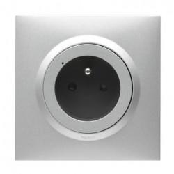 Prise de courant connectée dooxie with Netatmo 16A 3680W connexion par bornes automatiques - alu - 600491
