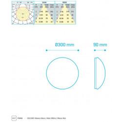 SURF 14W 300mm 1150Lm 4000K - 30380144