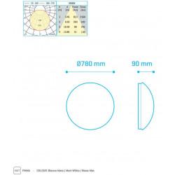 SURF XXL 100W 780mm 6500Lm 3000K DIMM 1-10V - 30381003