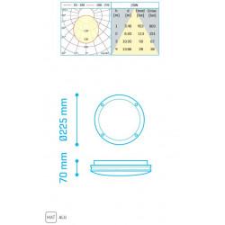 KAMEL IP65 20W 1700Lm 4000K WHITE - 30600204W