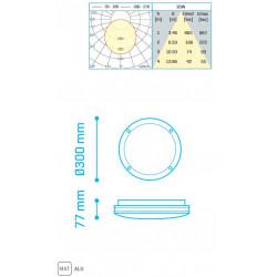 KAMEL IP65 30W 2500Lm 4000K WHITE - 30600304W