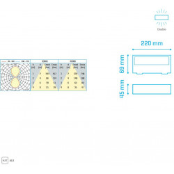 ALPHA IP65 6W 400Lm 3000K ANTHRACITE - 30620063A