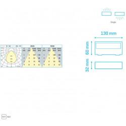 ALPHA IP65 6W 400Lm 3000K WHITE - 30620063W