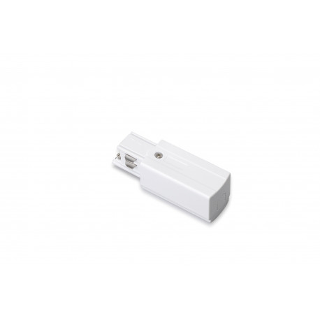 TRACK 230V LIVE-END CONNECTOR WHITE - 30440010W