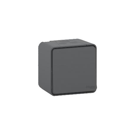 Mureva Styl - Interrupteur bipolaire - saillie - IP55 - IK08 connex auto - gris - MUR35033