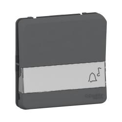 Mureva Styl - Bouton poussoir porte-etiquette - composable - IP55 - IK08 - gris - MUR34029
