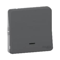 Mureva Styl - Va et vient lumineux LED - composable -IP55-IK08 -connex auto-gris - MUR35025