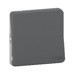 Mureva Styl - Bouton poussoir - composable - IP55 - IK08 - connexion auto - gris - MUR35027