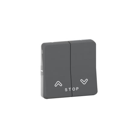 Mureva Styl - Bouton poussoir volets roulants - composable - IP55 - IK07 - gris - MUR35042