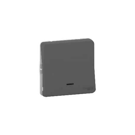Mureva Styl - Bouton poussoir lumineux LED - composable - IP55 - IK08 - gris - MUR35127