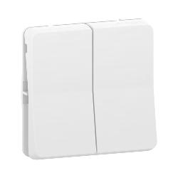Mureva Styl - Double va et vient - composable - IP55 - IK08 - blanc - MUR39022