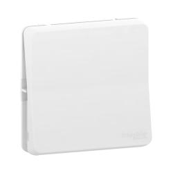 Mureva Styl - Bouton poussoir - composable - IP55 IK08 - connexion auto - blanc - MUR39027