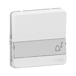 Mureva Styl - Bouton poussoir porte-etiquette - composable - IP55 - IK08 - blanc - MUR39129
