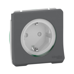 Mureva Styl - PC 2P+T schuko - composable - IP55 - IK08 - connexion auto - gris - MUR36134