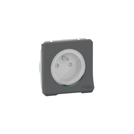 Mureva Styl - Prise de courant 2P+T à vis - composable - IP55 - IK08 - gris - MUR38030