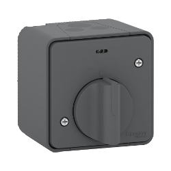 Mureva Styl - Interrupteur temporisé LED - saillie - IP55 - IK08 - gris - MUR35067