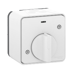 Mureva Styl - Interrupteur temporisé LED - saillie - IP55 - IK08 - blanc - MUR39067