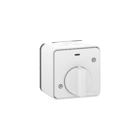 Mureva Styl - Interrupteur temporisé LED - saillie - IP55 - IK08 - blanc - MUR39067