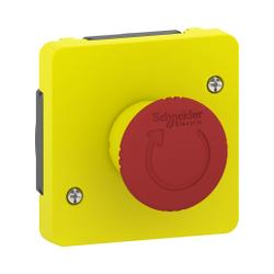 Mureva Styl - Arrêt d'urgence 1/4 tour - composable IP55 - IK08 - jaune - MUR35053
