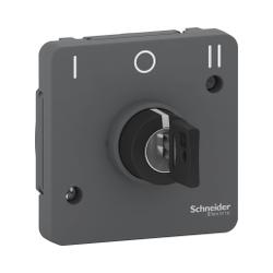 Mureva Styl - Interrupteur à clé 3 positions - composable - IP55 - IK08 - gris - MUR35061
