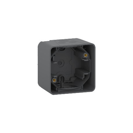Mureva Styl - Boîte 1 poste - saillie - IP55 - IK08 - gris - MUR37911