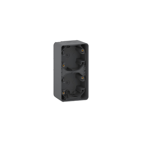 Mureva Styl - Boîte 2 postes verticale - saillie - IP55 - IK08 - gris - MUR37912
