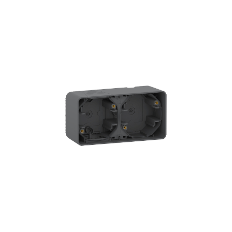 Mureva Styl - Boîte 2 postes horizontale - saillie - IP55 - IK08 - gris - MUR37914