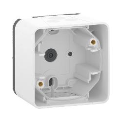 Mureva Styl - Boîte 1 poste - saillie - IP55 - IK08 - blanc - MUR39911