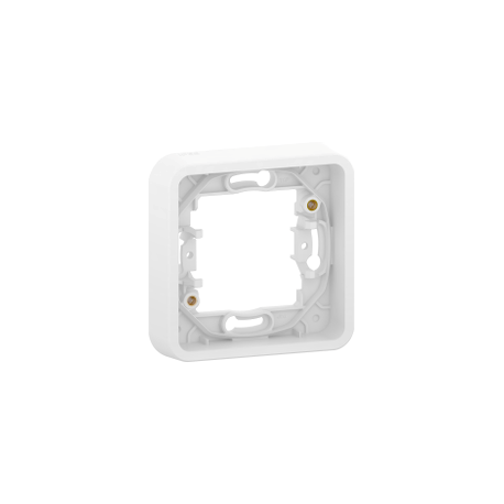Mureva Styl - Cadre 1 poste - encastré - IP55 - IK08 - blanc - MUR39107