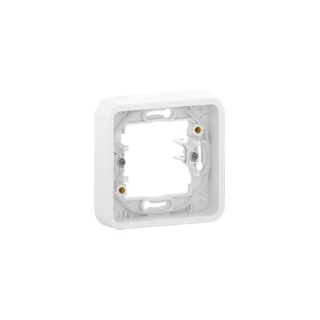 Mureva Styl - Cadre 1 poste à griffes - encastré - IP55 - IK08 - blanc - MUR39108