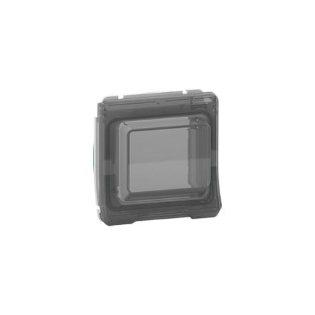 Mureva Styl - Adaptateur pour fonction 45X45 - composable - IP55 - IK07 - blanc - MUR39110