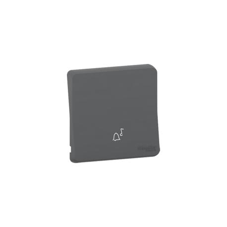 Mureva Styl - Enjoliveur avec symbôle sonnette - IP55 - IK08 - gris - MUR34201