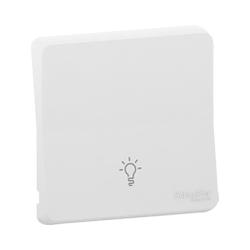 Mureva Styl - Enjoliveur avec symbôle lumière - IP55 - IK08 - blanc - MUR39202